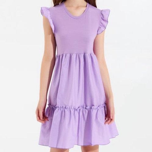 Rinascimento - Kleid mit Volant Flieder