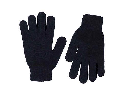 Zwillingsherz - Handschuhe 100% Cashmere Uni Schwarz