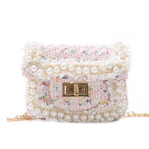 La petite surprise Couture Boucle Täschchen Perlen Rosa