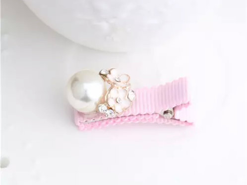 La petite surprise Couture Girly Haarspange Rosa Perle