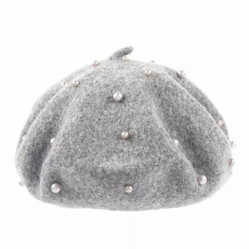 La petite surprise Couture Basken Mütze Grau