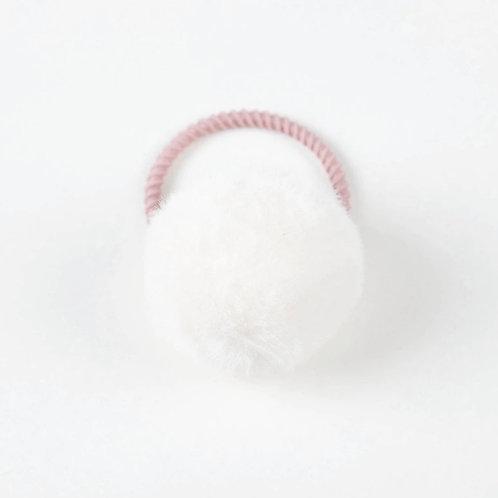 La petite surprise Couture Haargummi Pompom Weiß