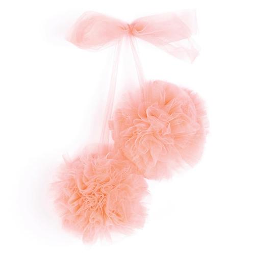 La petite surprise Couture Tüll Pompom Apricotrose
