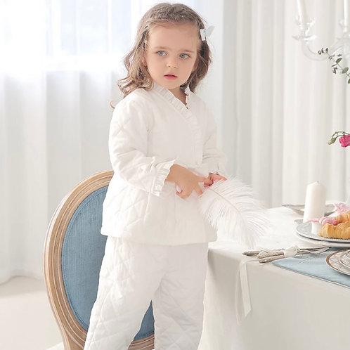 La petite surprise Couture Schlafanzug Louna Weiß