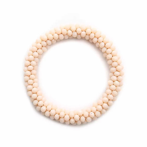La petite surprise Couture Crystal Haargummi / Armband Nude