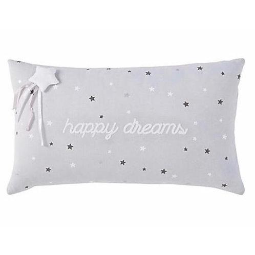 La petite surprise Couture - Happy Dreams - Baumwollkissen grau 30x50 cm