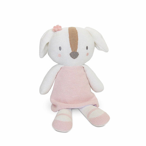Living Textiles Knitted Toy Ms. Rory Puppy 37 cm