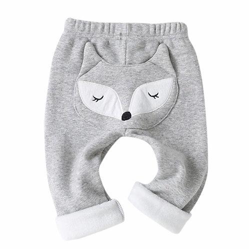 La petite surprise Baby Couture Hose mit Fuchs Grau