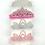 Thumbnail: La petite surprise Couture Haarreifen Krone Crystal Rosa