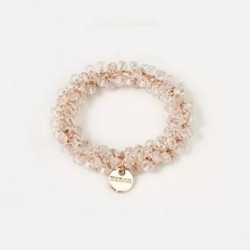 La petite surprise Couture Crystal Haargummi / Armband Weiß