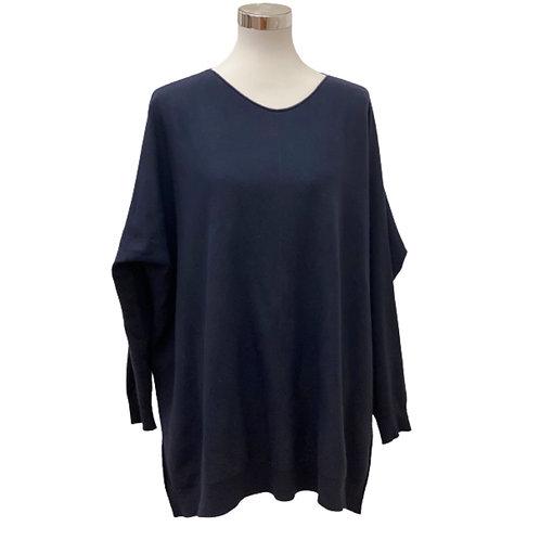 V Milano - Pullover Dulcie Oversize Marineblau