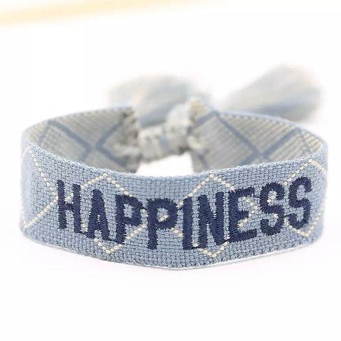 "La petite surprise Couture Canvas Armband ""Heppiness"" Hellblau"
