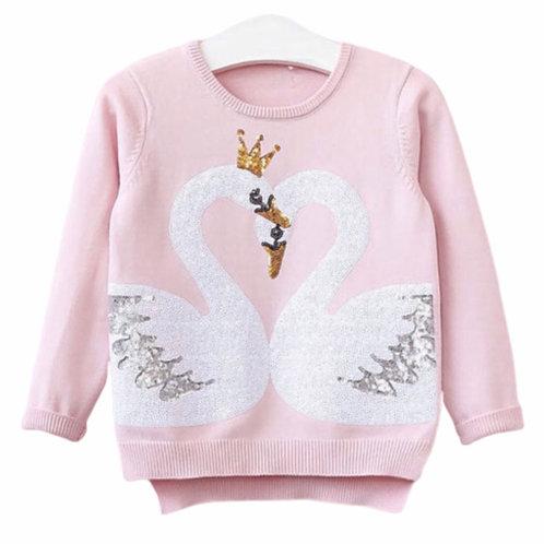 La petite surprise Couture Pullover Swan Rose