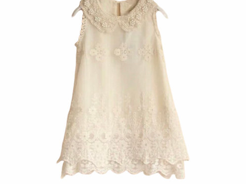 La petite surprise Couture Dress Vintage Beige