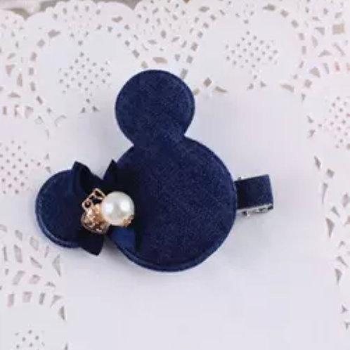 La petite surprise Couture Haarspange Denim Minnie Maus
