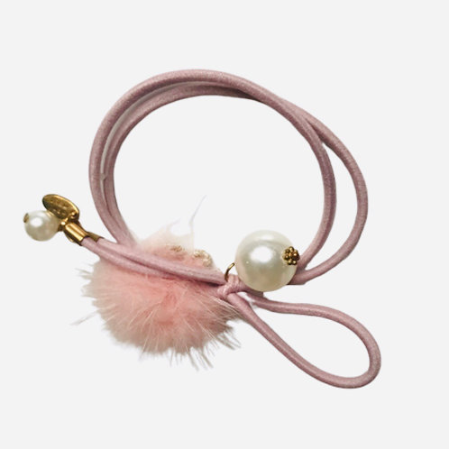 La petite surprise Couture Haargummi / Armband Rosa