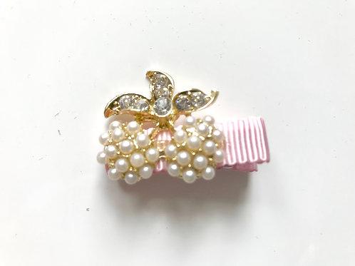 La petite surprise Couture Haarspangen Rosa Kirschen Perlen