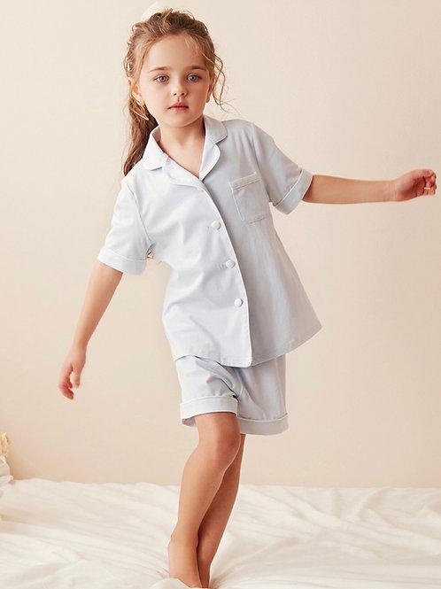 La petite surprise Couture Schlafanzug Caroline Himmelblau