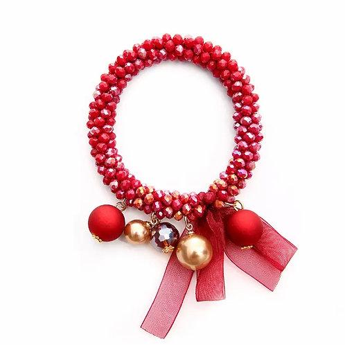 La petite surprise Couture Crystal Haargummi / Armband Rot