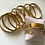"""Thumbnail: Armband aus Stainless Steel - """"YOU ARE ONE IN A MILLION"""" Gold"""