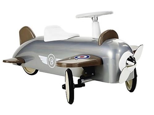 Baghera Rutsch-Flugzeug aus Metall Grau