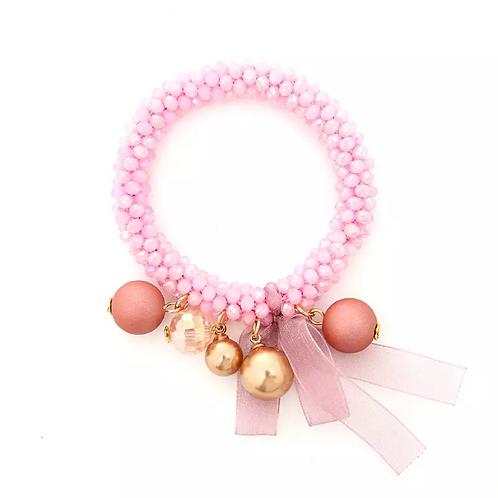 La petite surprise Couture Crystal Haargummi / Armband Rosa