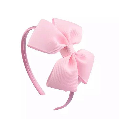 La petite surprise Couture Haarreifen Schleife Rosa