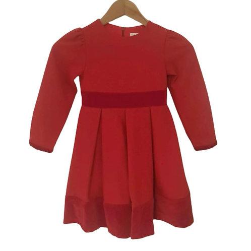 Patachou - Kleid Samt & Satin Rot