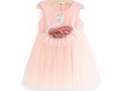 La petite surprise Couture Dress Swan Rose/Apricot
