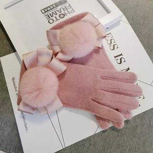 La petite surprise Couture Damen Handschuhe Rosa