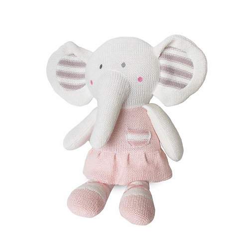 Living Textiles Knitted Toy Amelia Elephant 37 cm