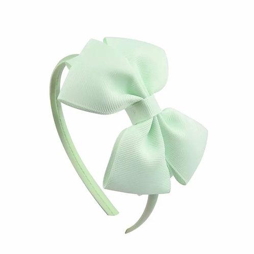 La petite surprise Couture Haarreifen Schleife Mint