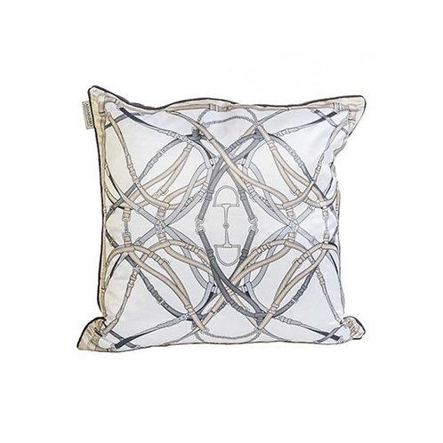 Adamsbro - Seidenkissen Bite Grau-Beige 50x50 cm