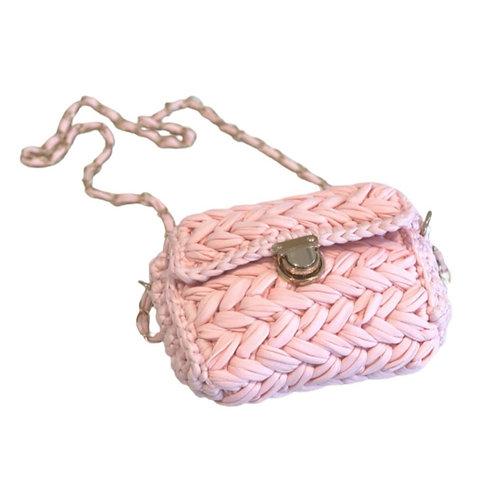 La petite surprise Couture Grobstrick-Tasche Hellrosa