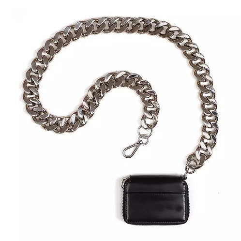 La petite surprise Couture Crossbody Tasche Schwarz-Silber