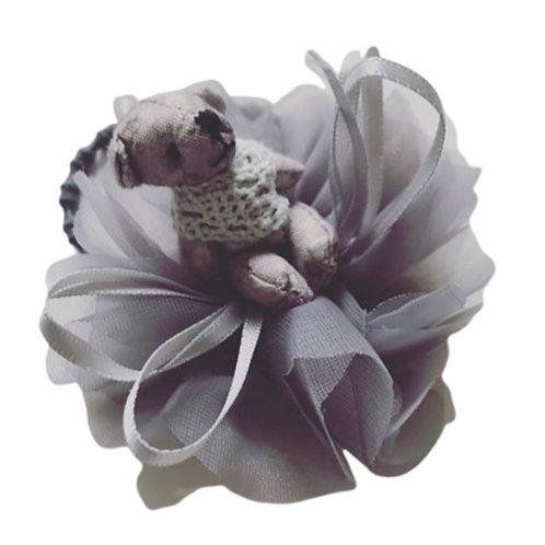 La petite surprise Couture Haargummi Teddy Grau