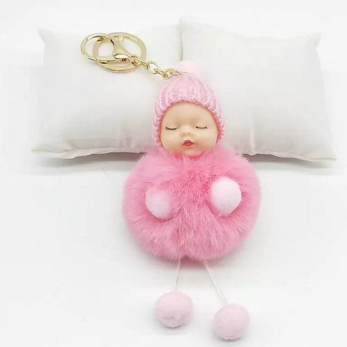 La petite surprise Couture Baby Anhänger Pompom Rosa