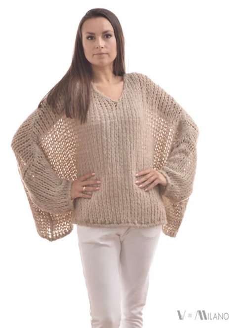 V Milano - Pullover V. Lora Oversize Beige