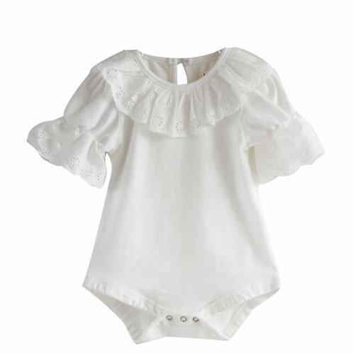 La petite surprise Couture Baby Body Weiß