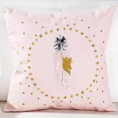 La petite surprise Couture Kissen Feder Rosa 45x45 cm