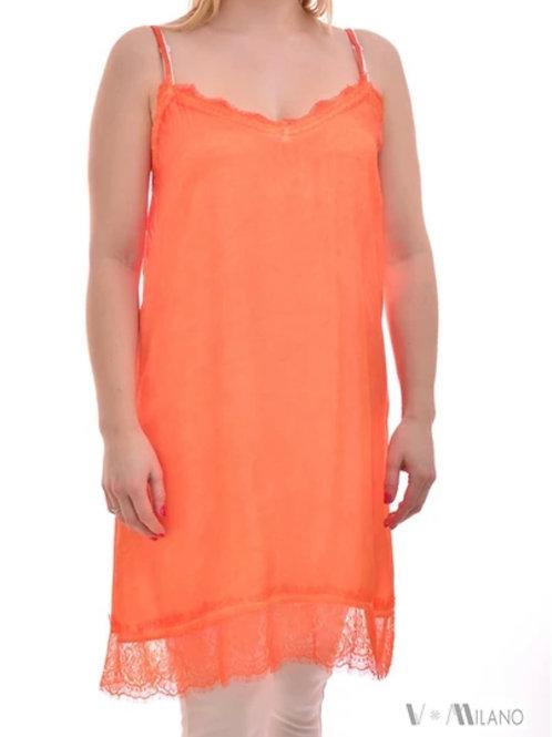 V Milano - Spitzentop / Unterkleid Sindy Orange Gr. M