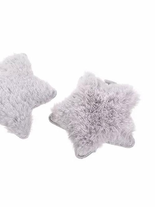 La petite surprise Couture Haarspange Stern Grau
