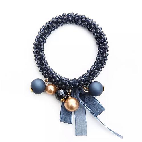 La petite surprise Couture Crystal Haargummi / Armband Dunkelblau
