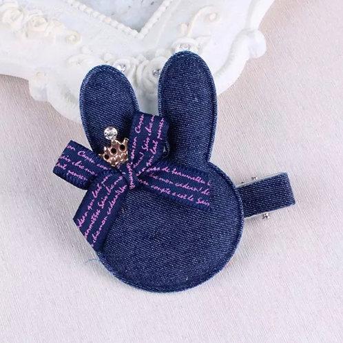 La petite surprise Couture Haarspange Denim Bunny