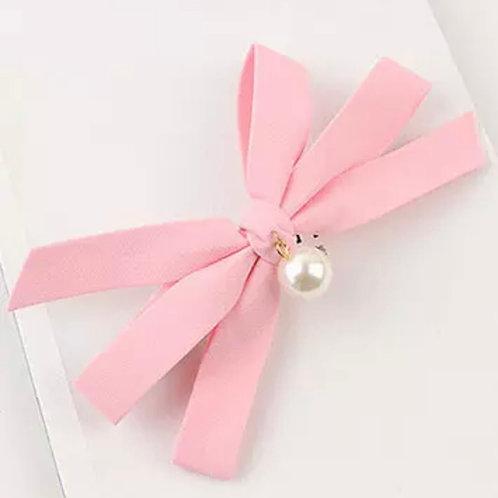 La petite surprise Couture Haarspange Schleife Rosa