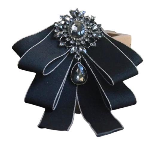 La petite surprise Couture Brosche Schwarz