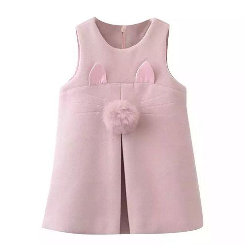 La petite surprise Couture Kleid Cat Rosa