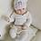 Thumbnail: La petite surprise Couture Baby Häkelmütze Weiß