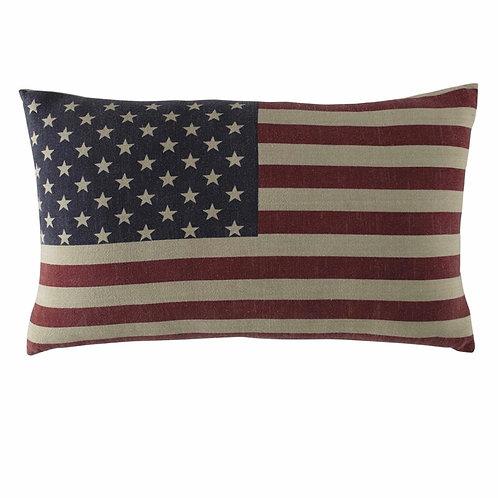 La petite surprise Couture - USA Baumwollkissen amerikanische Flagge 40x60 cm