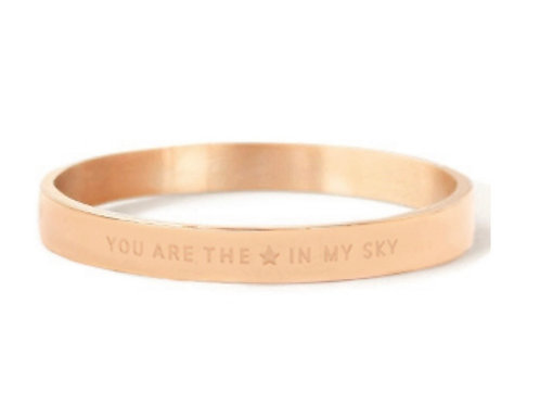 """Armband aus Stainless Steel - """"YOU ARE MY STAR IN THE SKY"""" Ro"""